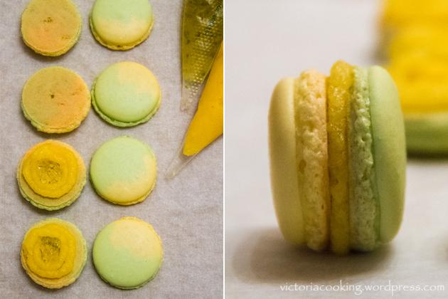 02 - Herme - Лимонно-лаймовые макаронс